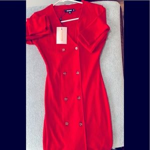 Missguided size 2 red mini dress